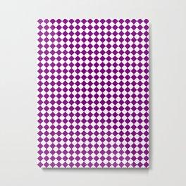 Small Diamonds - White and Purple Violet Metal Print