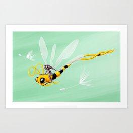 Dragonbee Art Print
