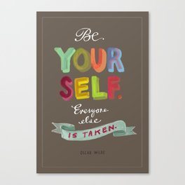 Smart People Say Smart Things Canvas Print