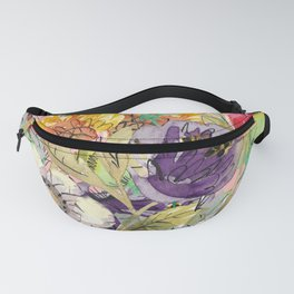 Summer Blooms Illustration Fanny Pack