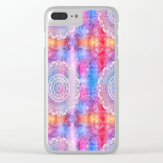 Modern Abstract Mandala Flower Clear iPhone Case