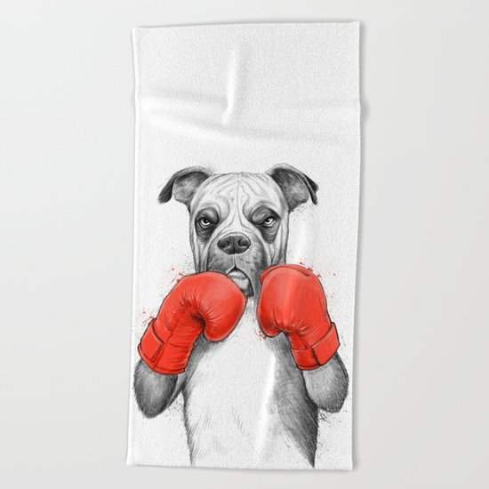 boxer Beach Towel