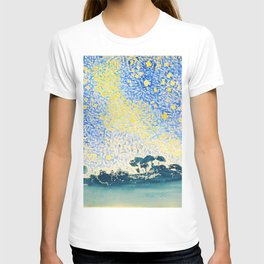 Henri Edmond Cross -Landscape With Stars - Digital Remastered Edition T-shirt