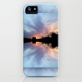 Sunset Brushstrokes iPhone Case