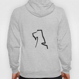 Stylish minimalist hand drawn airedale dog print Hoody