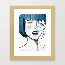 Speechless in Sapphire Framed Art Print