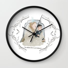 The White Witch and Edmund Wall Clock