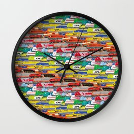 Locomotives - Rainbow by Railcolor Wall Clock