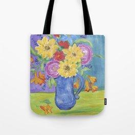 Summer Garden Flowers Tote Bag