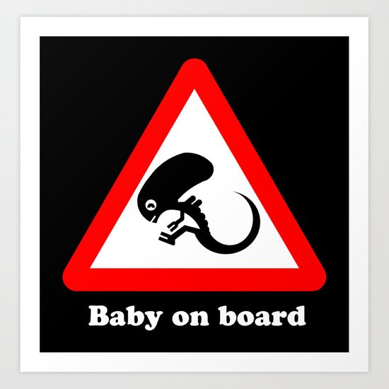 Baby on board Art Print