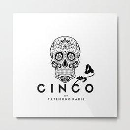 Cinco by Tatemono Paris Metal Print