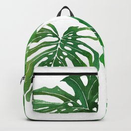 Watecolor Monstera Swiss Cheese Plant Transparent Backpack