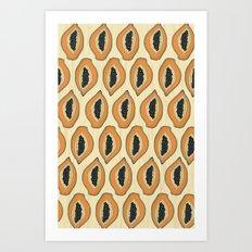 Papayas Art Print