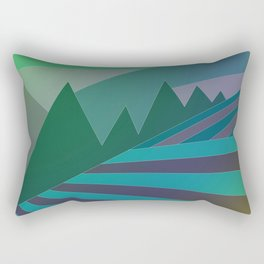 Evening field Rectangular Pillow
