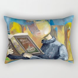 At The End Of The Fork Rectangular Pillow