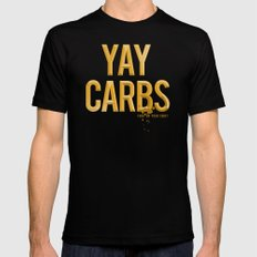yay carbs 2X-LARGE Black Mens Fitted Tee