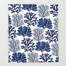 Sea life collection pattern Throw Blanket