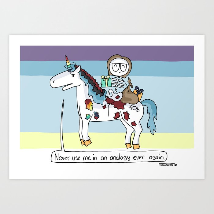 Analogy Unicorn Art Print