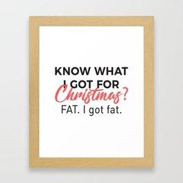 Eat Christmas Food Got Fat Gain Weight Funny Design Framed Art Print