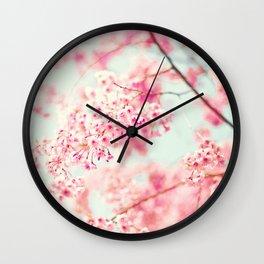Fading Cherries Wall Clock