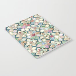 Muted Moroccan Mosaic Tiles Notebook