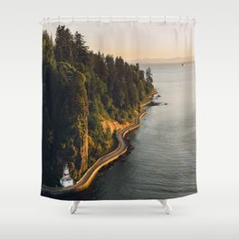 A Curvy Park - Vancouver, British Columbia, Canada Shower Curtain