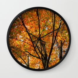 Colorful Maple of New England. Wall Clock