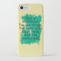 the perks of being a wallflower iPhone & iPod Cases featuring Wallflower by green.lime