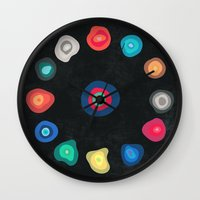 biology Wall Clocks featuring CELLS by THE USUAL DESIGNERS