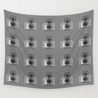 history Wall Tapestries featuring Camera History by BlancaJP - Jonna Piltti
