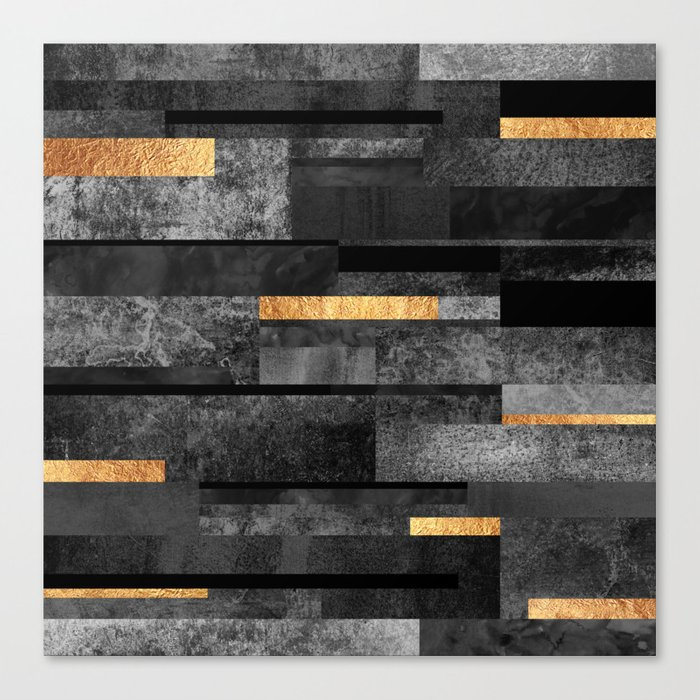 Urban Black & Gold Leinwanddruck