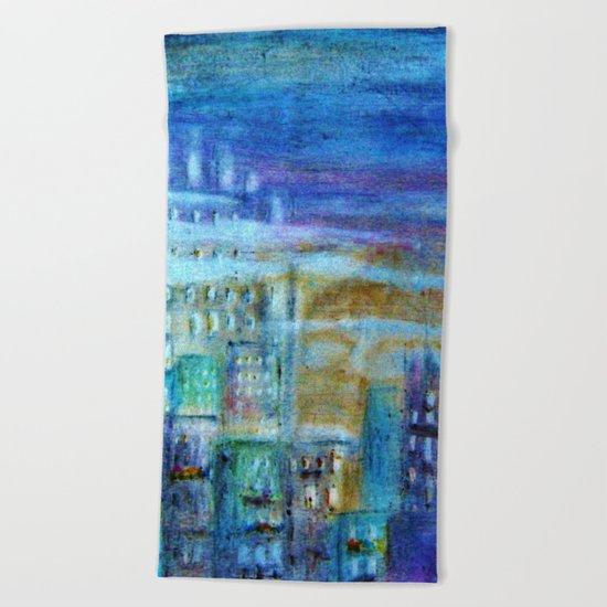 Italy by night Beach Towel
