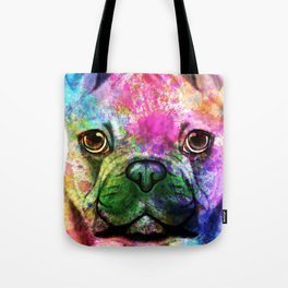 French bulldog Watercolor Tote Bag