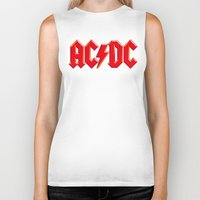 acdc Biker Tanks featuring ACDC by loveme