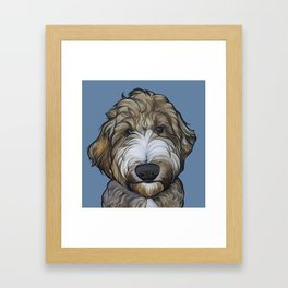 Seamus the Labradoodle Framed Art Print
