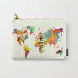 world map color art 2 Carry-All Pouch