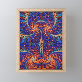 Wild Fiber 2.Blue Flame Abstract Framed Mini Art Print