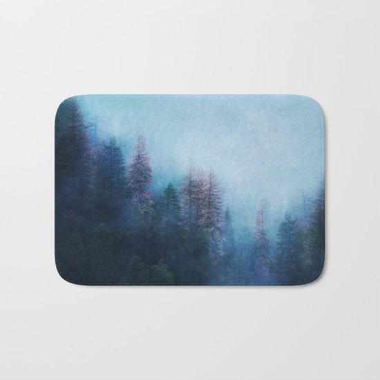Dreamy Winter Forest Bath Mat