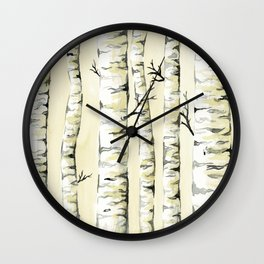 Silver Birch Wall Clock