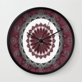 Mauve Kaleidoscope Art 1 Wall Clock