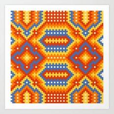 Woven Fabric Illusion On Printed Fabric Art Print