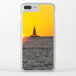 Beautiful sunset on key west Clear iPhone Case