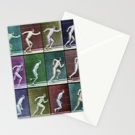 Horse Motion Study Colorful Beautiful Horse Trotting Jumping HorseRrace Gift Idea Stationery Cards