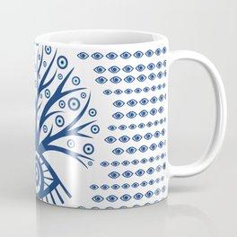 Greek Eye Tree - Mati Mataki - Matiasma on white Coffee Mug