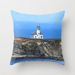 Cape Arago Light Throw Pillow