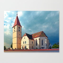 The village church of Kleinzell I   architectural photography Canvas Print