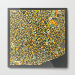 DETROIT MAP Metal Print
