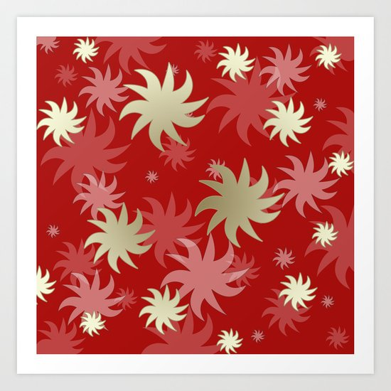 CHRISTMAS STARS 04 Art Print