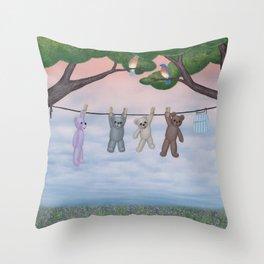 meadow fresh teddy bears Throw Pillow