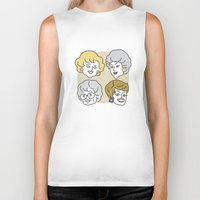 golden girls Biker Tanks featuring Thank You for Being a Friend (Golden Girls) by Marcelo Galvao